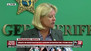 Update on missing Riverview girl found dead - Video