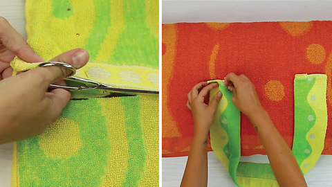 DIY Beach Towel Tote With Pillow