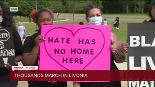Thousands march in Livonia