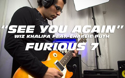 Electric guitar cover of Wiz Khalifa's 'See You Again' ft. Charlie Puth
