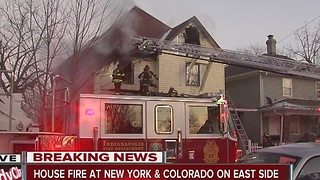 Fire damages two homes on Indy's east side - Video