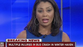 Multiple injuries in bus crash in Winter Haven - Video