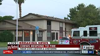 Fire reported near Civic Center and Cheyenne - Video