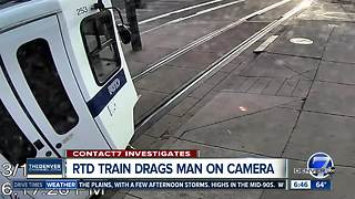 RTD light rail video shows man surviving after being dragged by train - Video