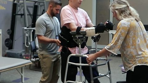 Quadriplegic Stands Up In Front Of Girlfriend For The Very First Time