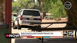 Police investigating after body found in Papago Park pond - Video