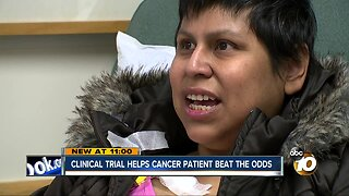 Clinical trial helps cancer patient beat the odds