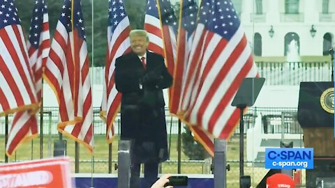 Donald Trump at Jan 6 White House Ellipse Rally