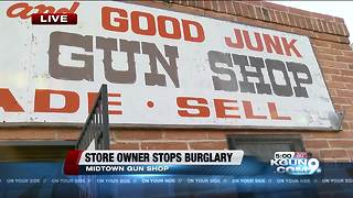 EXCLUSIVE: Gun shop owner comes face to face with burglars