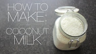 How to make coconut milk - Video