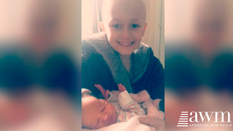 Young Boy Dying From Cancer Fights Long Enough To See The Birth Of His Baby Sister