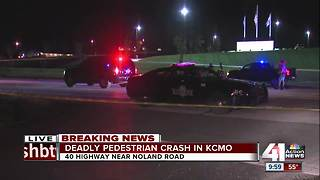 Pedestrian killed near 40 Hwy & Phelps in KCMO - Video