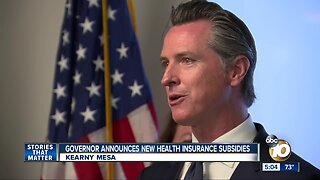 Governor announces healthcare subsidies