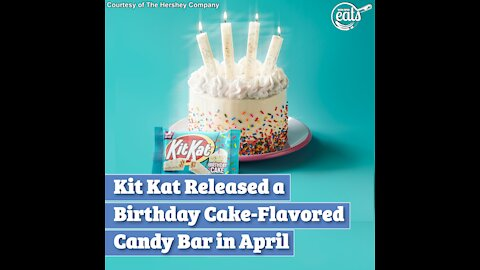 Kit Kat Released a Birthday Cake-Flavored Candy Bar in April
