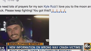 Phoenix firefighter's son injured after driver drives in wrong direction - Video