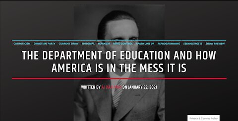 The Department Of Education and The Mess We Are In