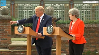 Trump Shuts Down Acosta During Presser With UK's PM: 'CNN is Fake News'