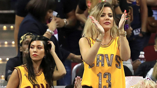 Khloe Kardashian Supports Tristan Thompson During Playoff Game! - Video