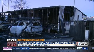 Mobile home total loss after fire