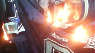 Florida Man RUSHED to Hospital After Trying to Wear Burning Cowboys Jersey - Video