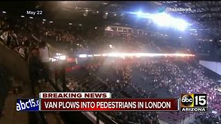 One person dead, others injured after van plows into crowd in London