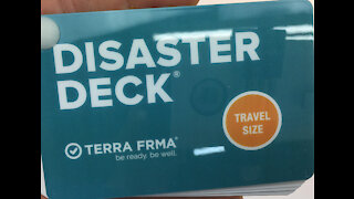 DISASTER DECK Pocket Size Emergency Survival Cards Guide & Preparedness Instructions Disasters