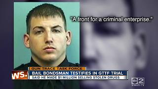 Bail bondsman who admits to helping GTTF sell drugs takes the stand - Video