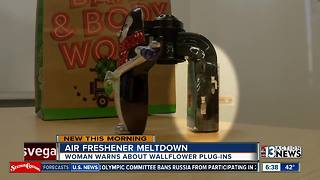 Woman warning about air freshner
