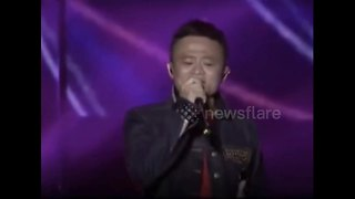Alibaba's Jack Ma attempts 'Unchained Melody' with mixed results - Video