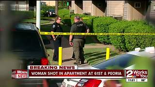 Woman shot at apartment near 61st and Peoria - Video