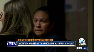 Woman charged with murdering husband appears in court