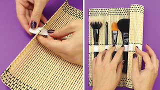 Sushi makeup brush mat holder - Video