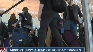 Airport busy ahead of holiday travel - Video
