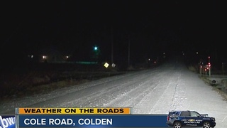 Road conditions in the mobile weather lab on 219 southbound - Video