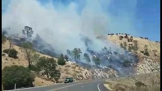 #HighwayFire covering 1,500 acres, evacuation orders in place - Video