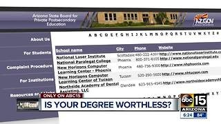 How to find out if an online degree is legitimate or a waste of money - Video