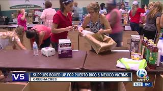 Supplies gathered in Greenacres headed to Puerto Rico after Hurricane Maria - Video