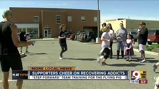 Supporters cheer on recovering addicts preparing for Flying Pig Marathon - Video