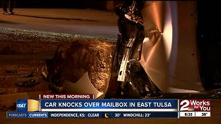 Driver arrested after crashing into mailbox