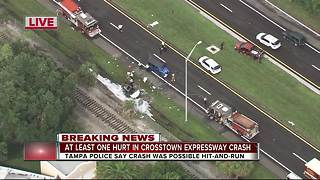 WB Selmon Expressway closed after fatal crash - Video