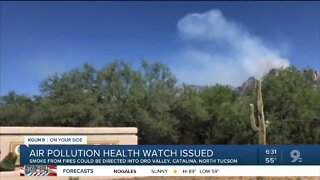 Wildfires affecting air quality