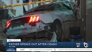 Father talks about crash that sent kids to hospital