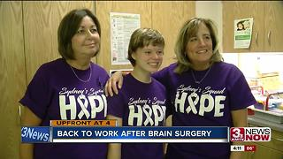 Woman,22, back to work after back to back brain surgeries - Video