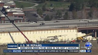 What's next for the US 36 repair project?