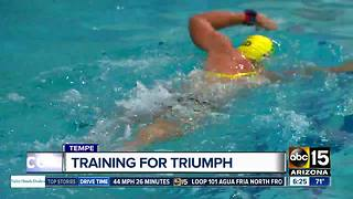 Local triathlete training for Ironman World Championship - Video