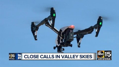 Close calls between drones and airplanes causing safety concerns in the Valley