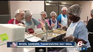 15,000 pounds of turkey served during Mozel Sanders Thanksgiving dinner - Video