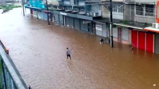 Ba Streets Covered by Floodwaters During Cyclone Keni - Video