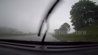 Intense hail storm in Ontario, Canada - Video