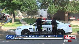 Two injured in house explosion in Lincoln - Video